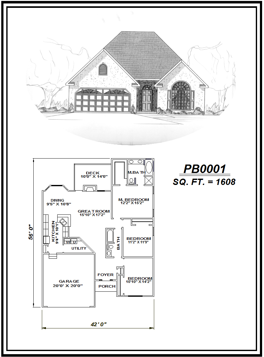 picture of house plan #PB0001
