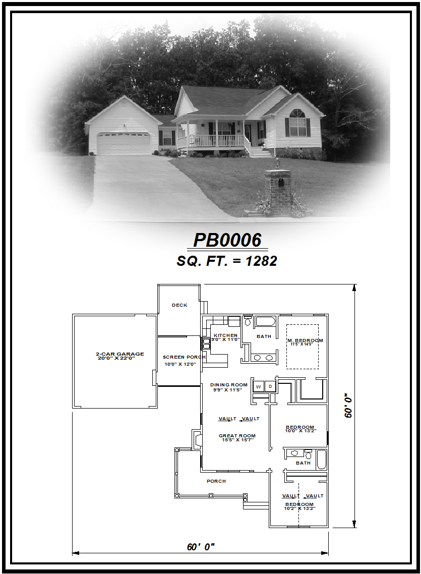 picture of house plan #PB0006