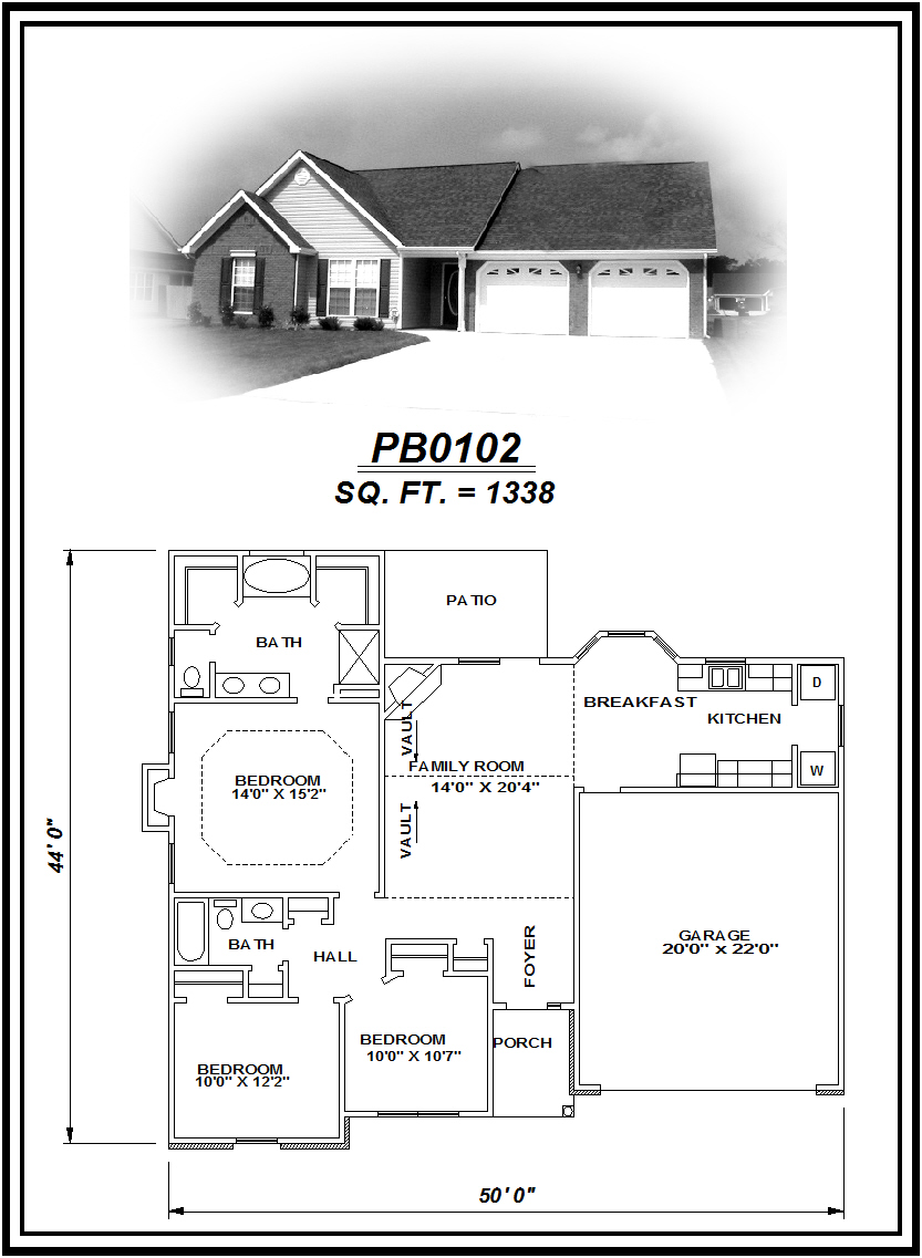 picture of house plan #PB0102