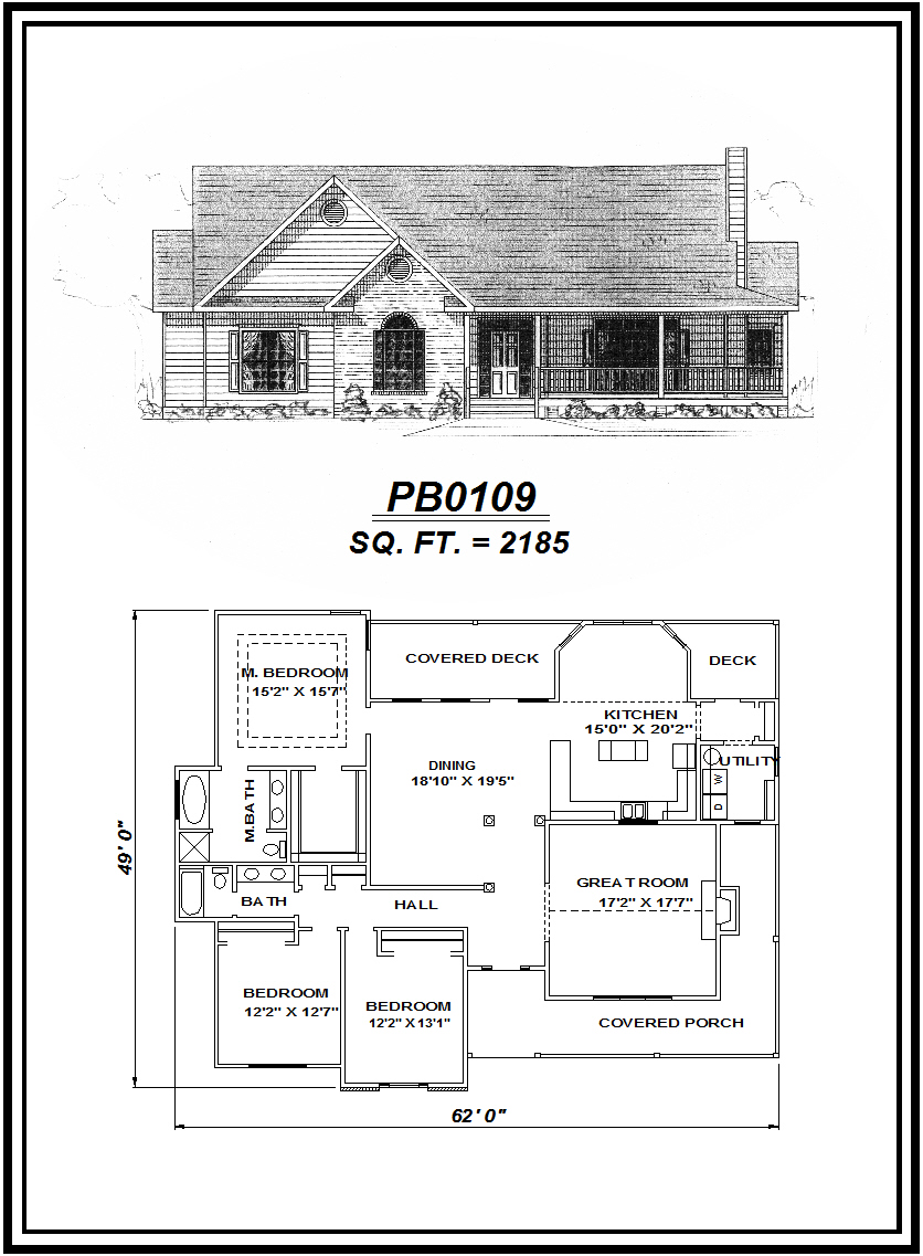 picture of house plan #PB0109