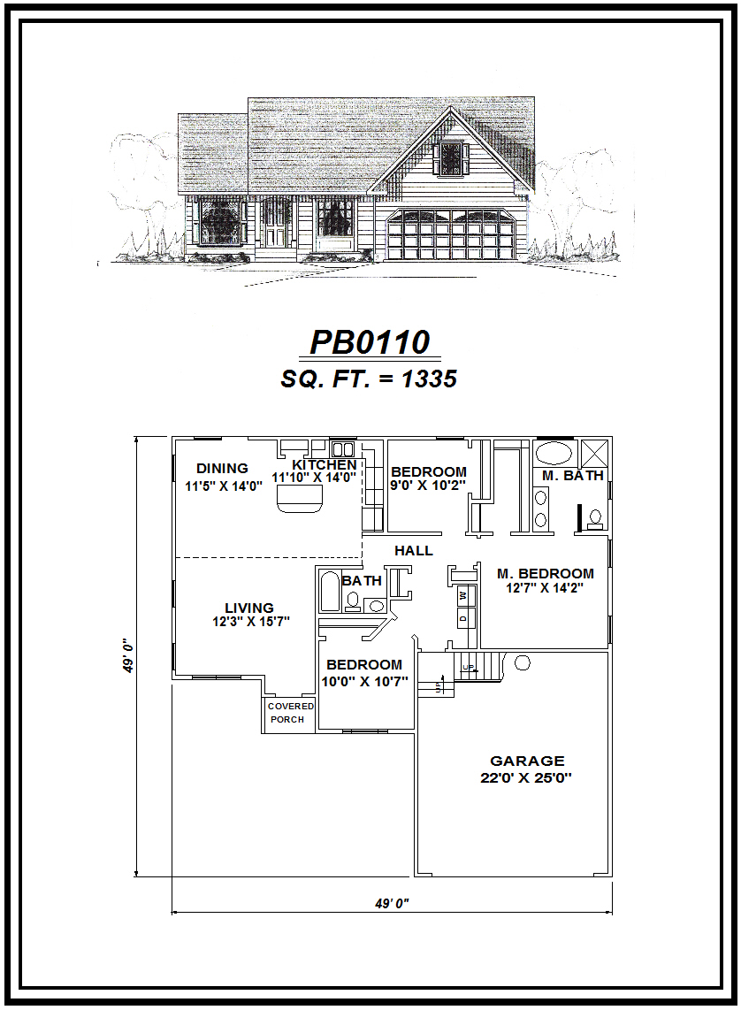 picture of house plan #PB0110