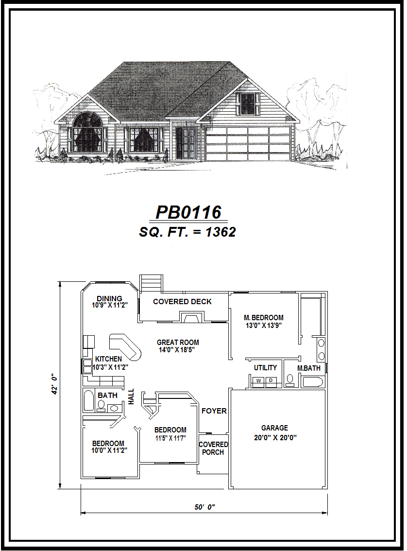 picture of house plan #PB0116