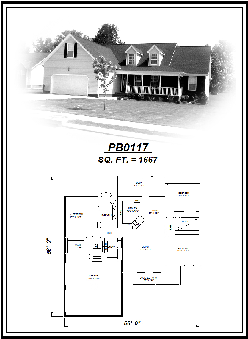 picture of house plan #PB0117