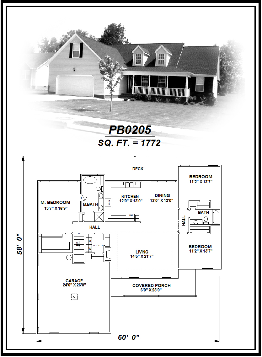 picture of house plan #PB0205