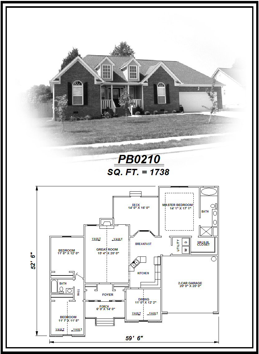 picture of house plan #PB0210