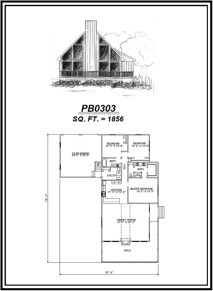 picture of house plan #PB0303