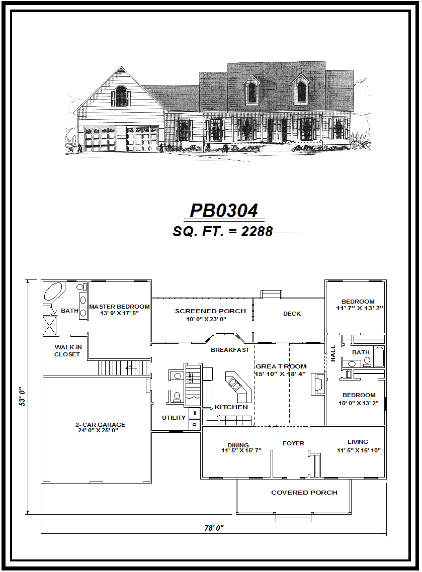 picture of house plan #PB0304