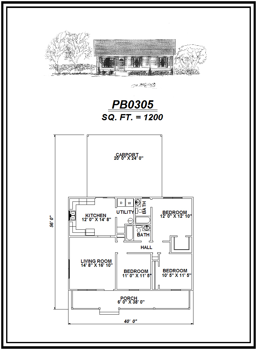 picture of house plan #PB0305