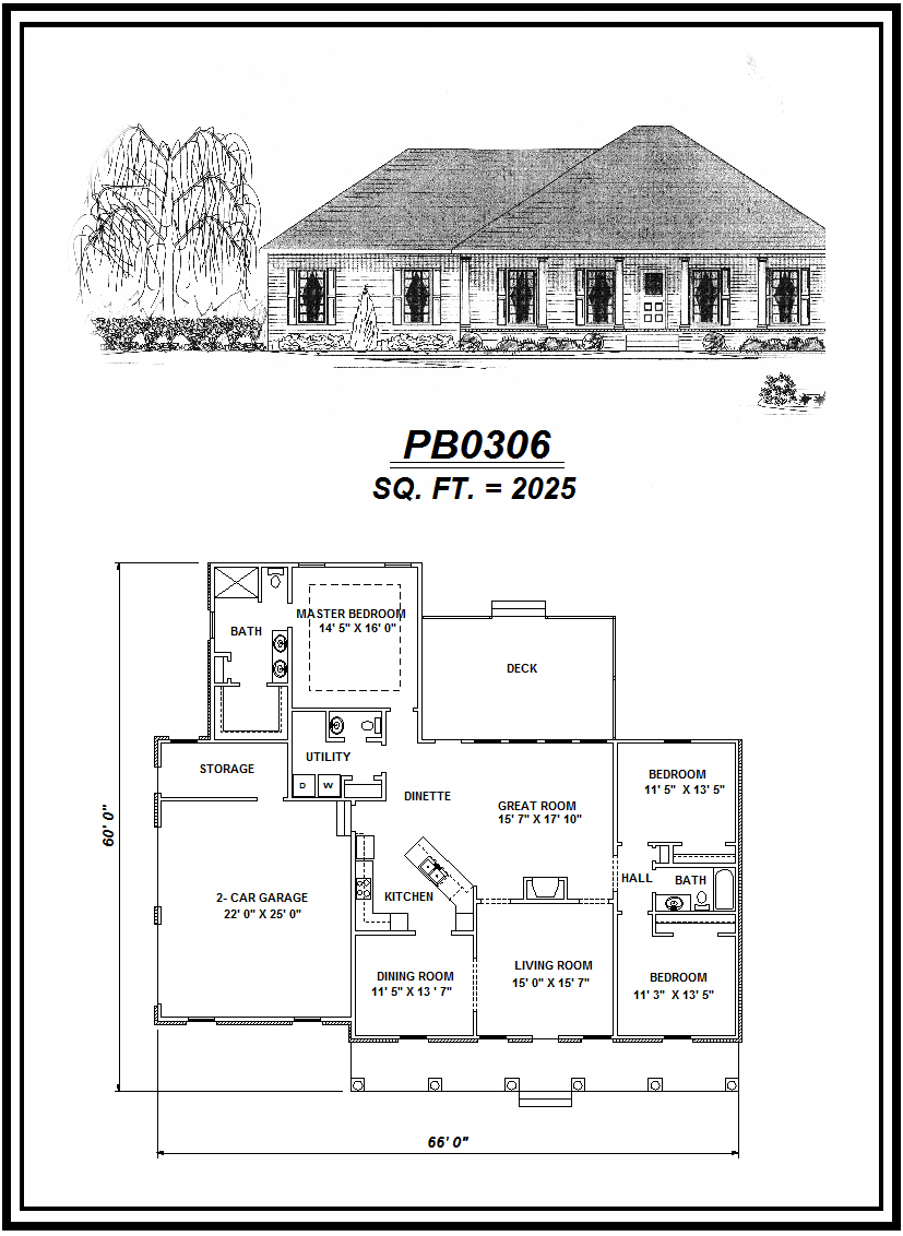 picture of house plan #PB0306