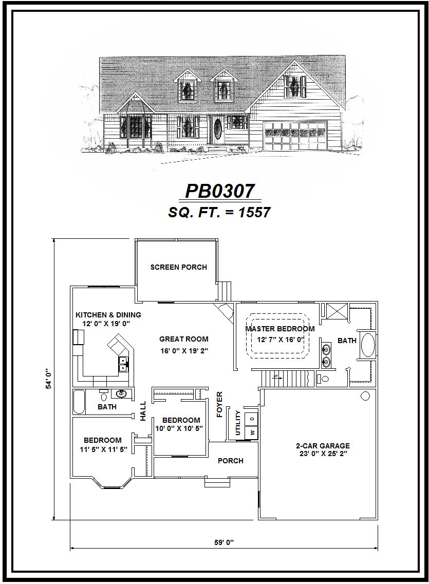 picture of house plan #PB0307