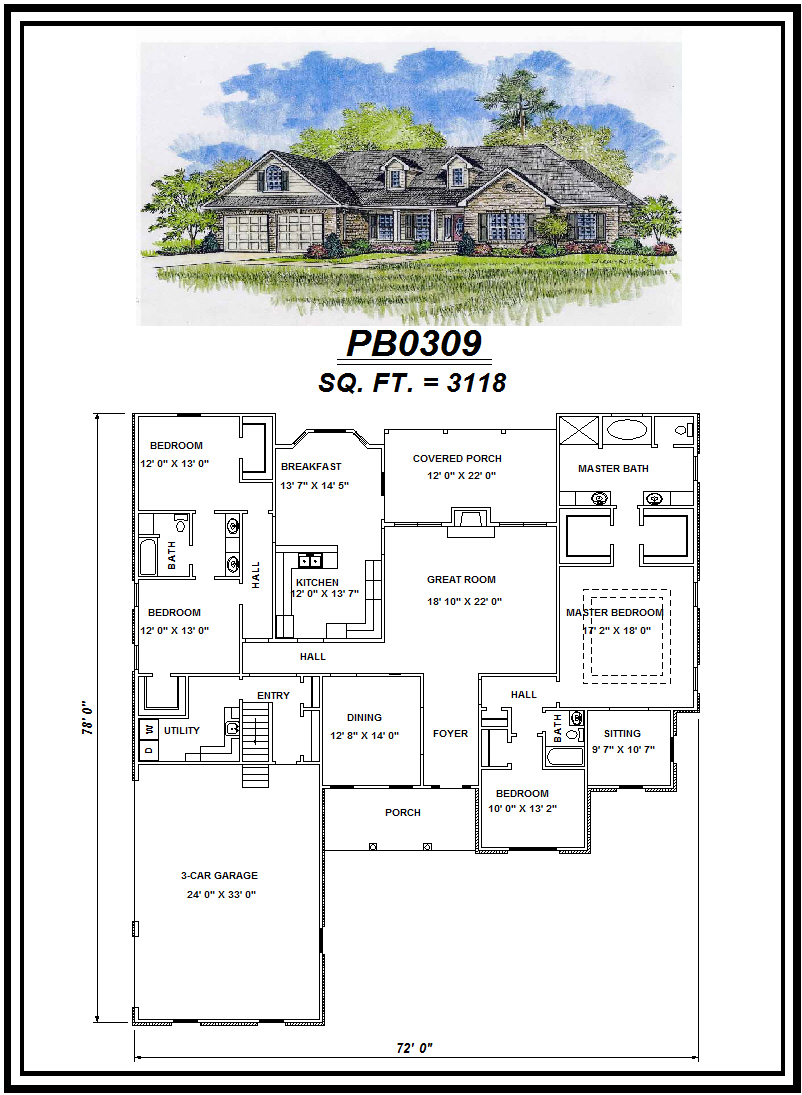 picture of house plan #PB0309
