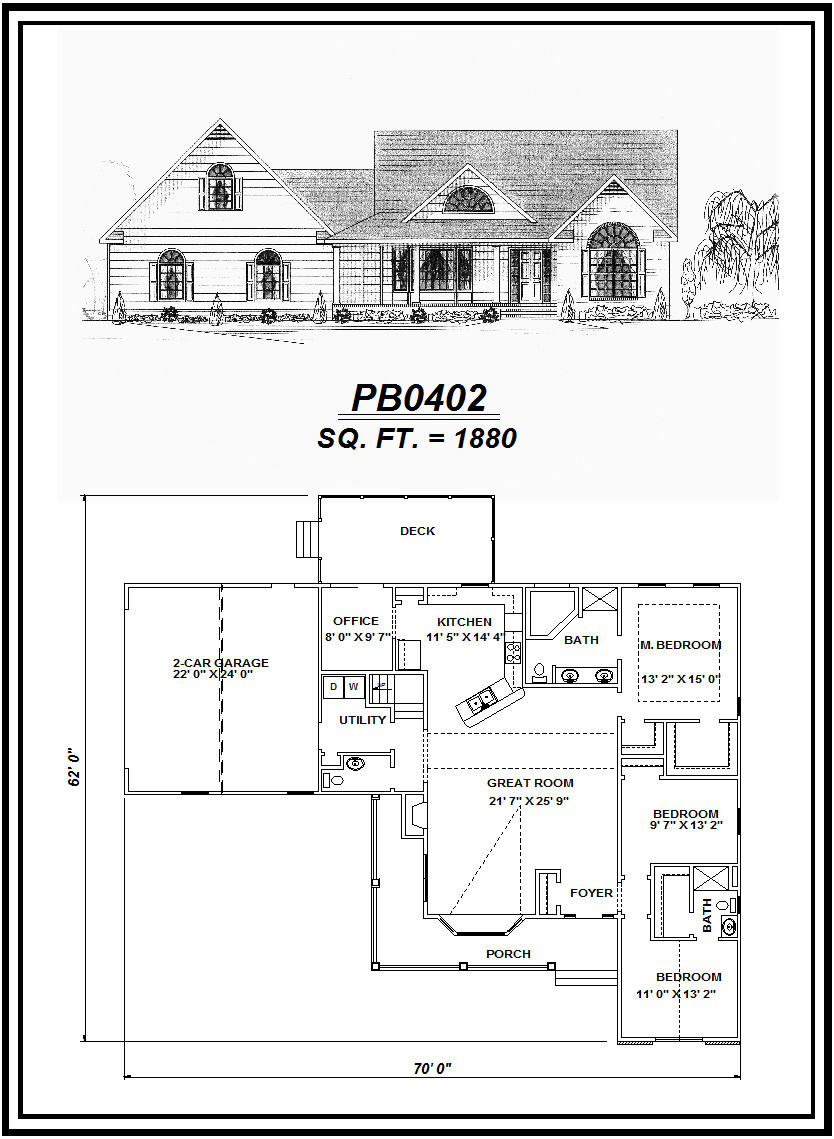 picture of house plan #PB0402