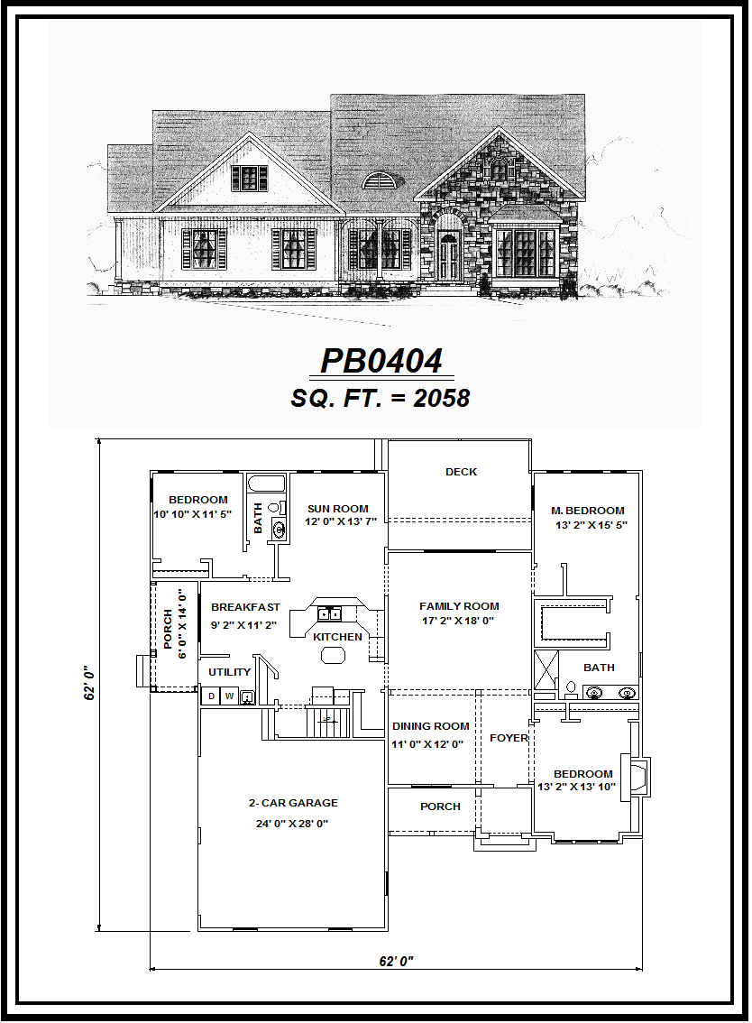 picture of house plan #PB0404