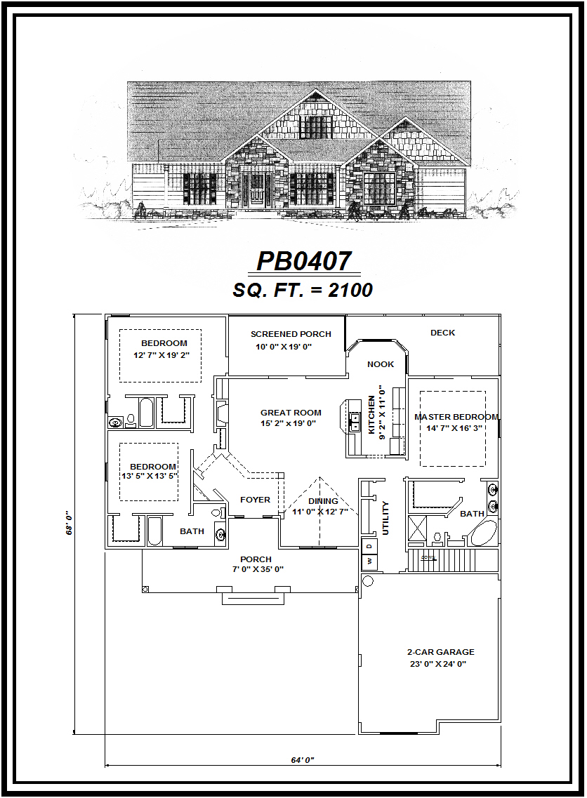 picture of house plan #PB0407