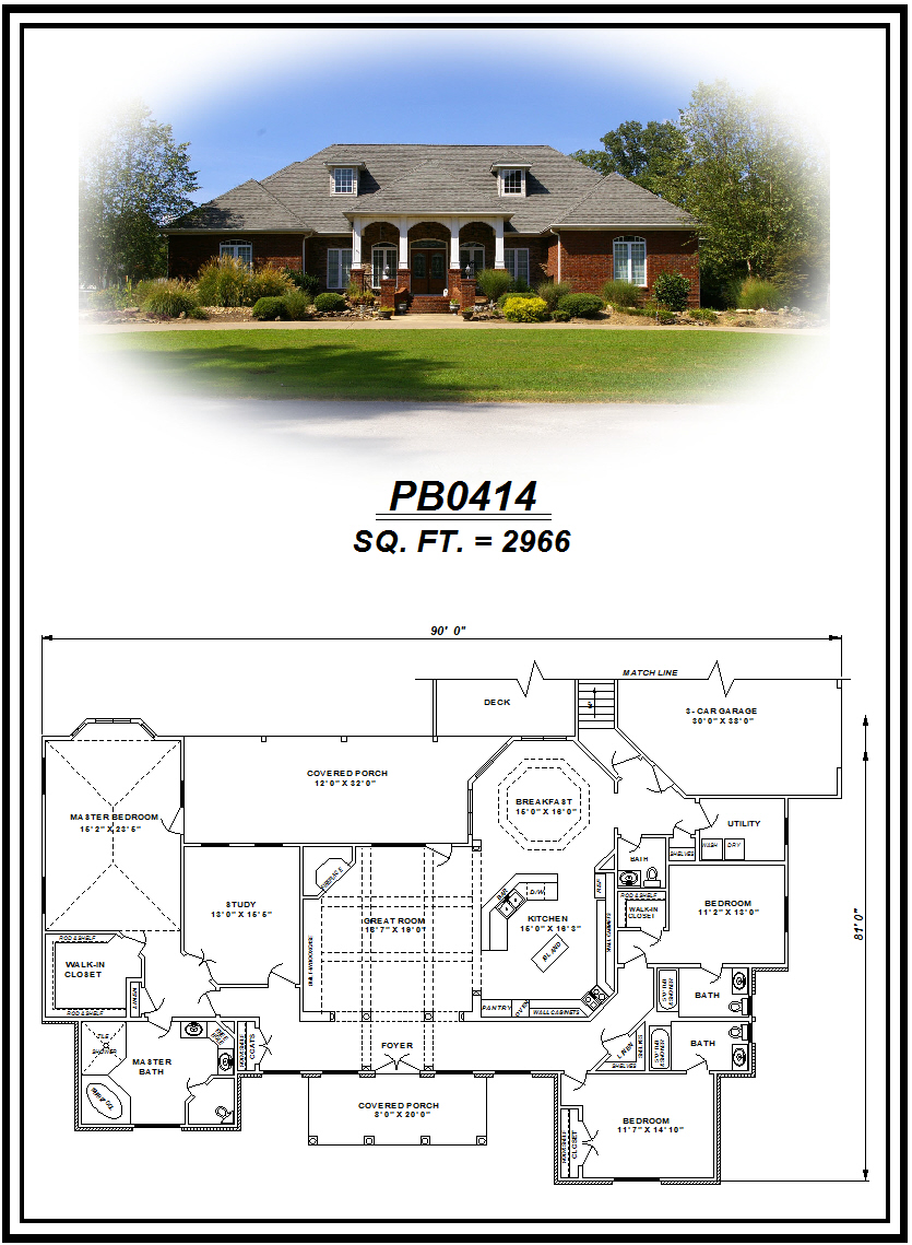 picture of house plan #PB0414