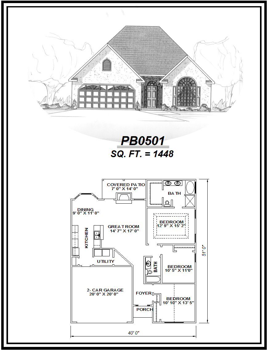 picture of house plan #PB0501