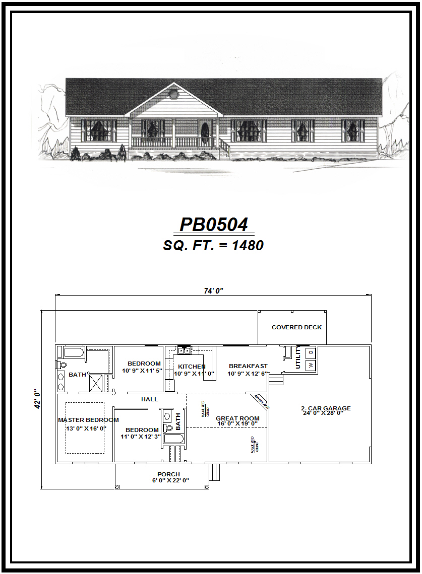 picture of house plan #PB0504