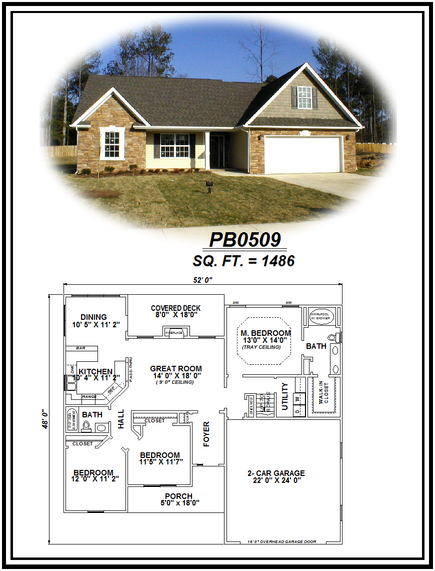 picture of house plan #PB0509