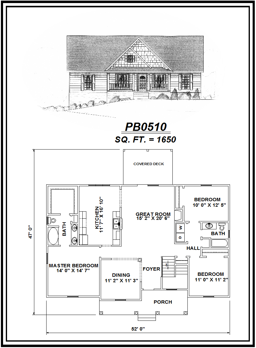 picture of house plan #PB0510