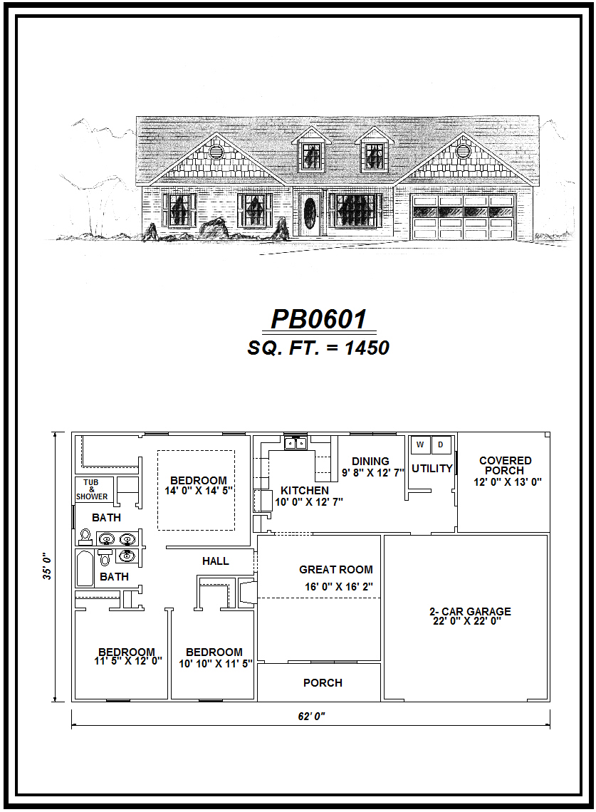 picture of house plan #PB0601