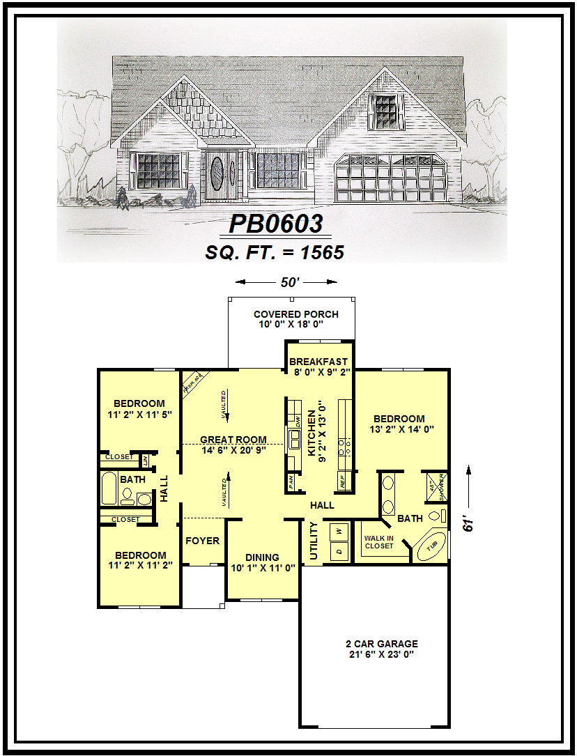 picture of house plan #PB0603