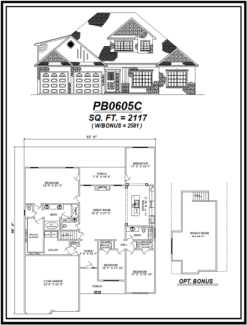 picture of house plan #PB0605C