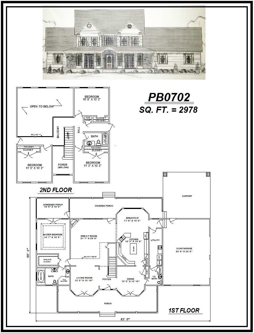picture of house plan #PB0702