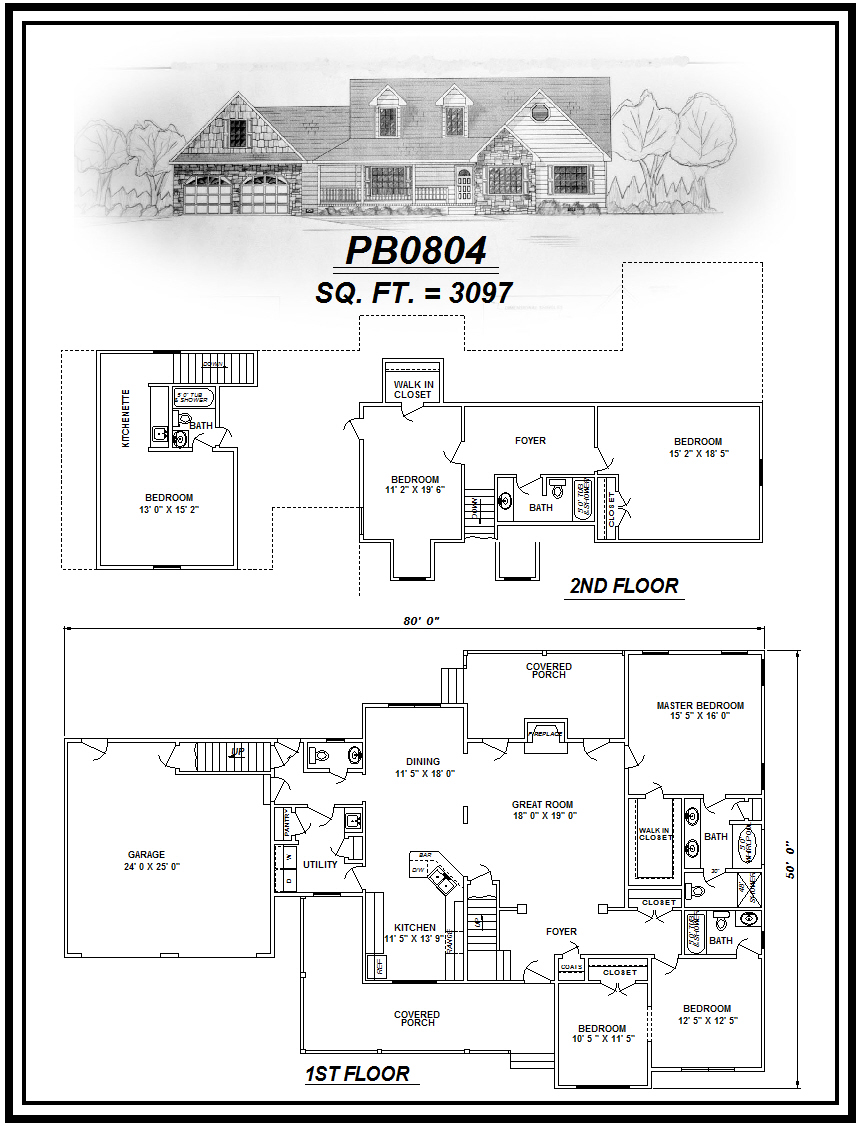 picture of house plan #PB0804