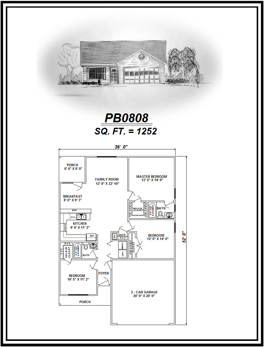picture of house plan #PB0808