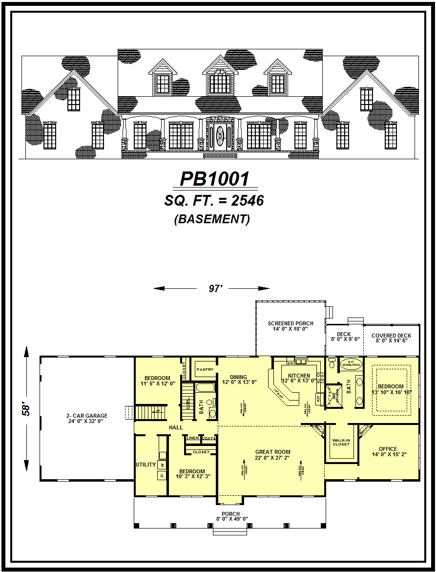 picture of house plan #PB1001
