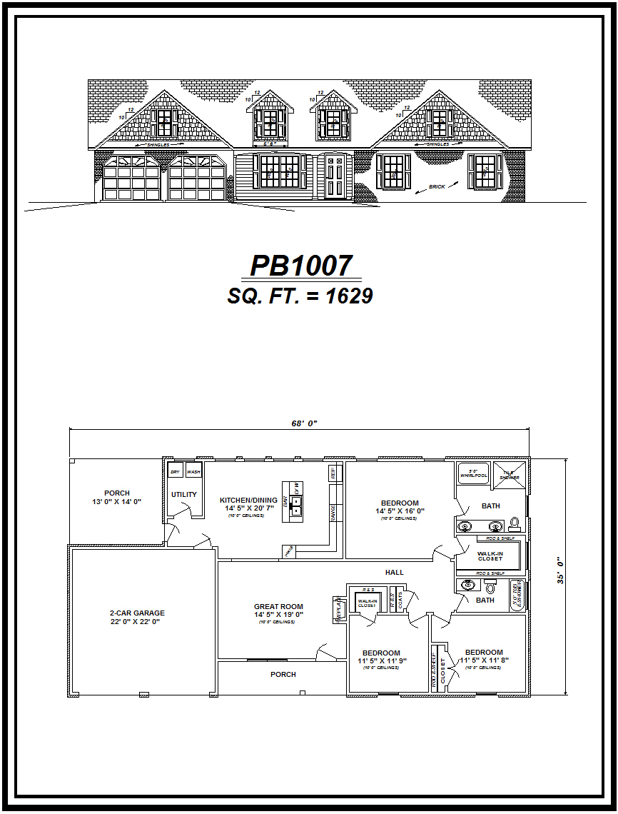 picture of house plan #PB1007