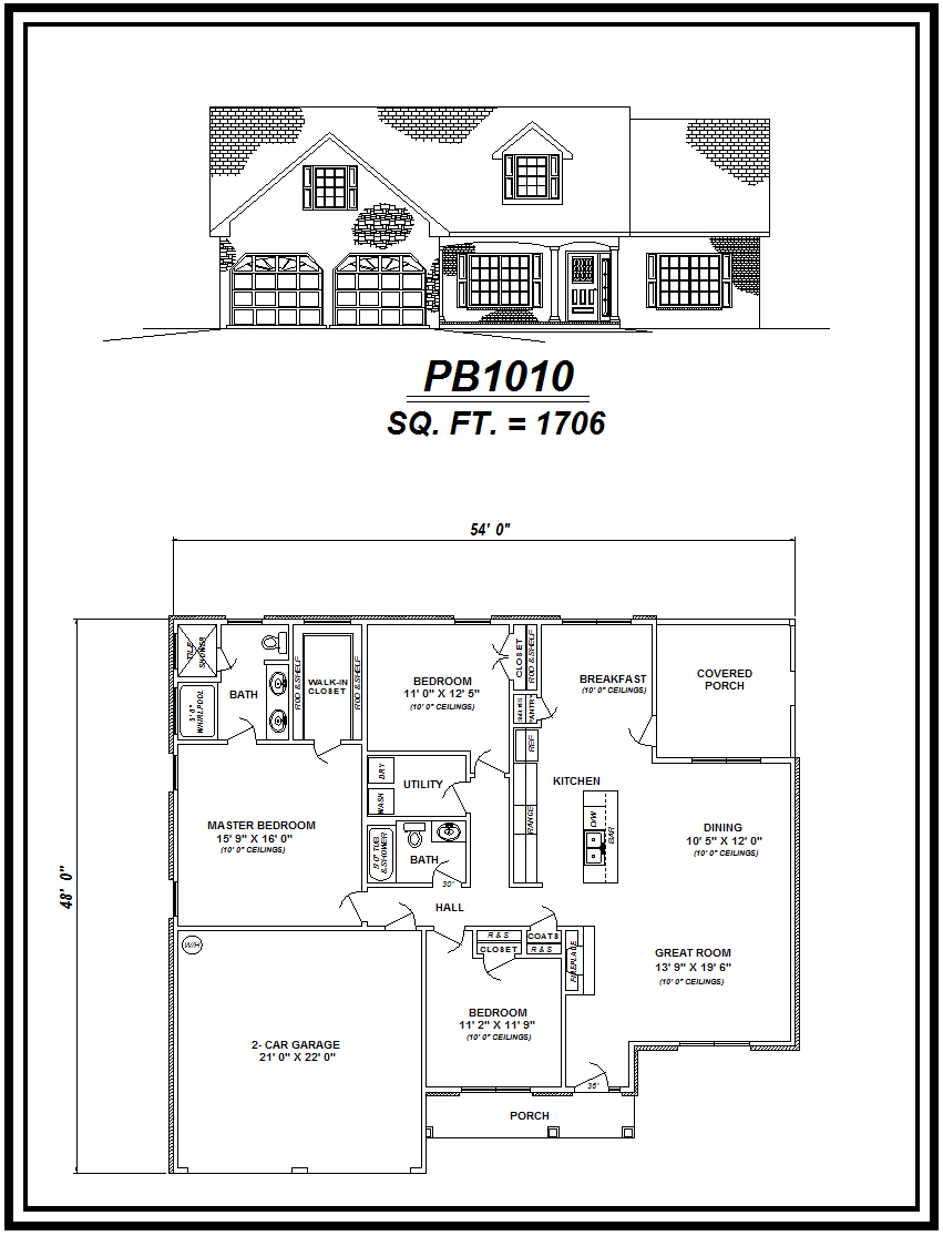 picture of house plan #PB1010
