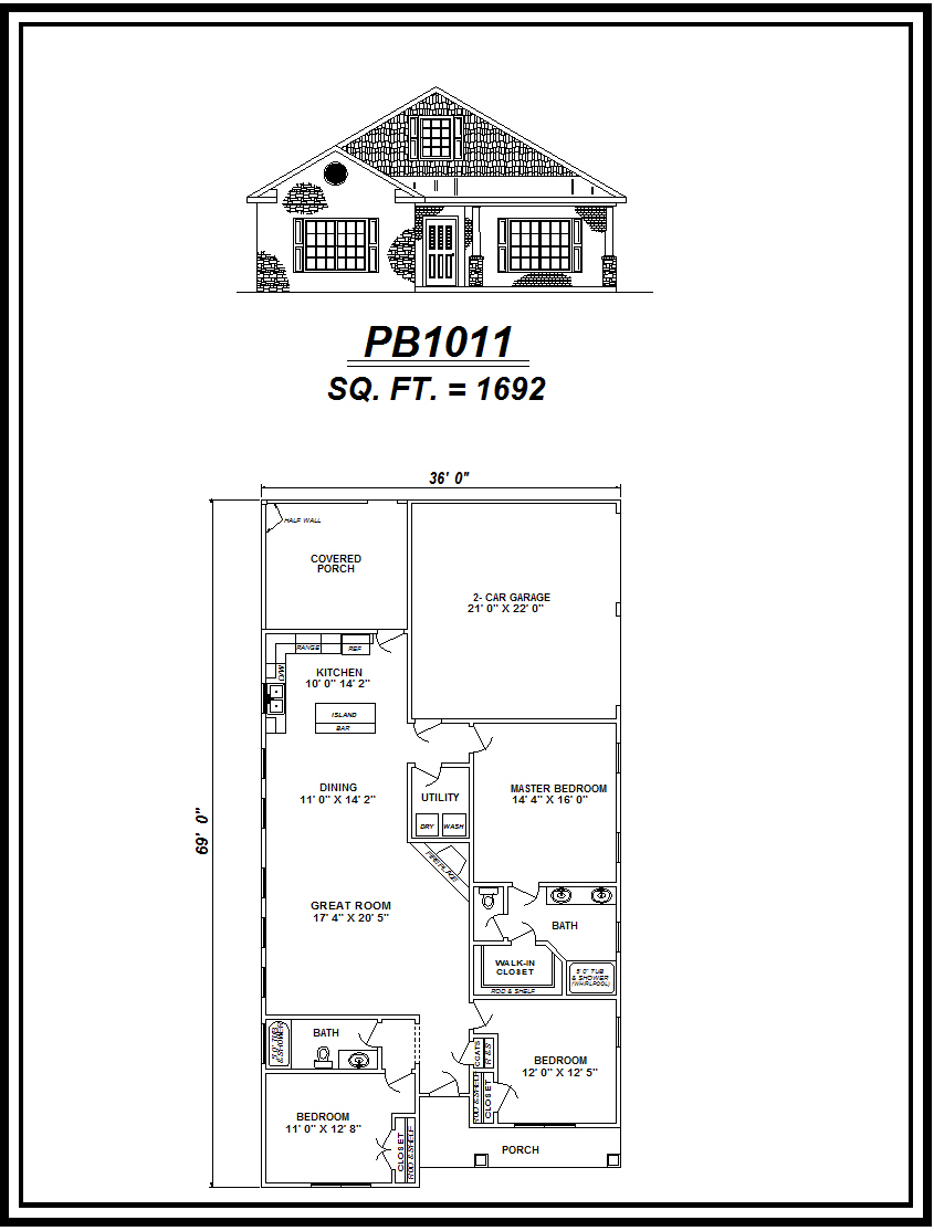 picture of house plan #PB1011