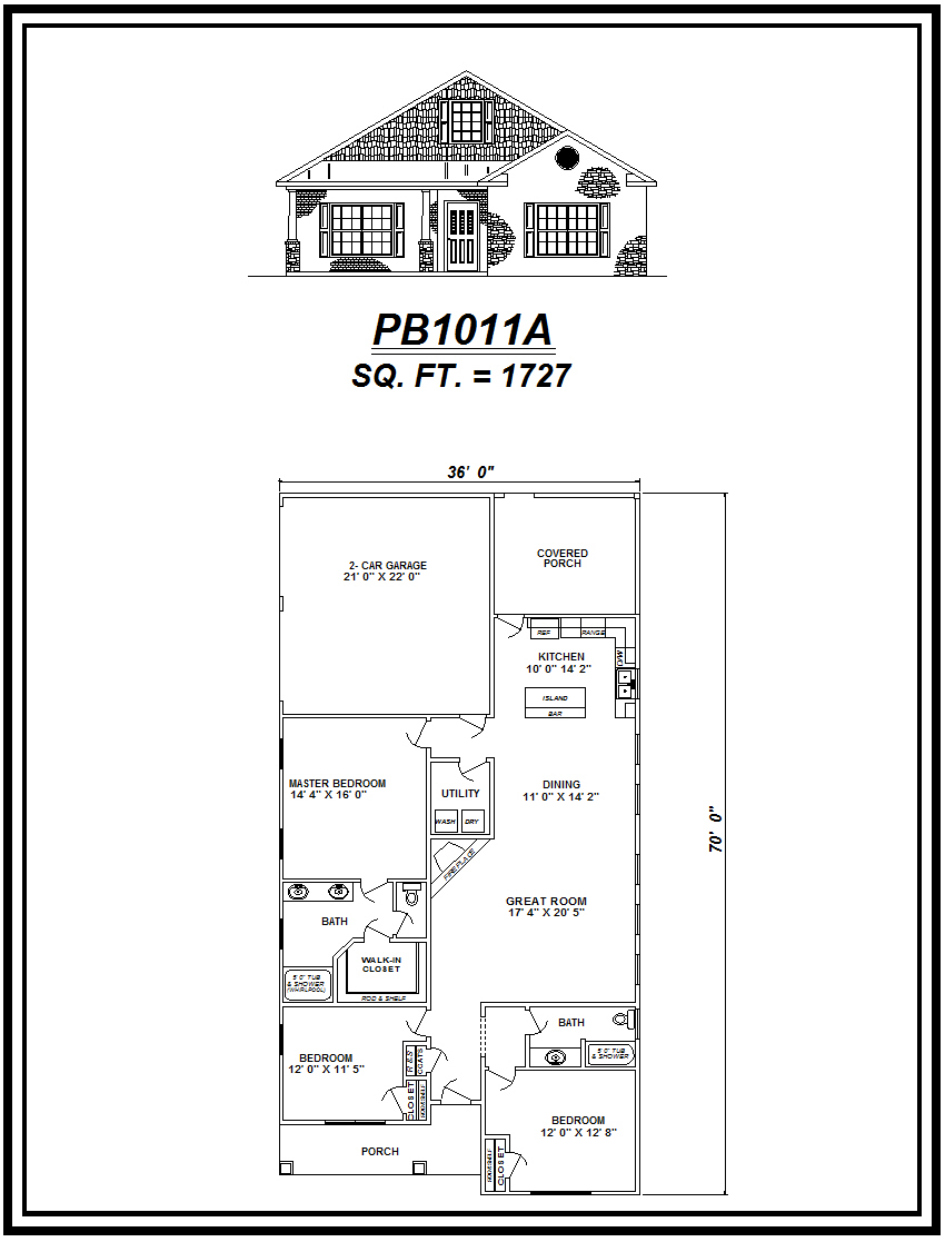 picture of house plan #PB1011A