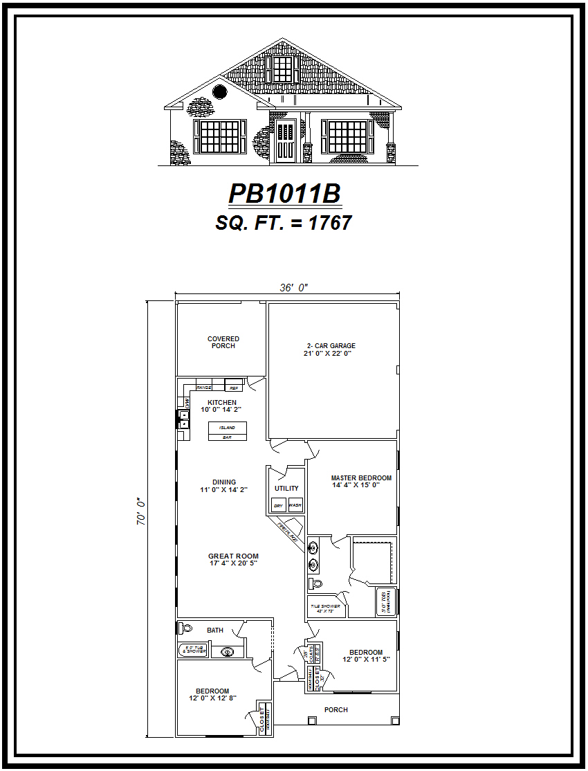 picture of house plan #PB1011B