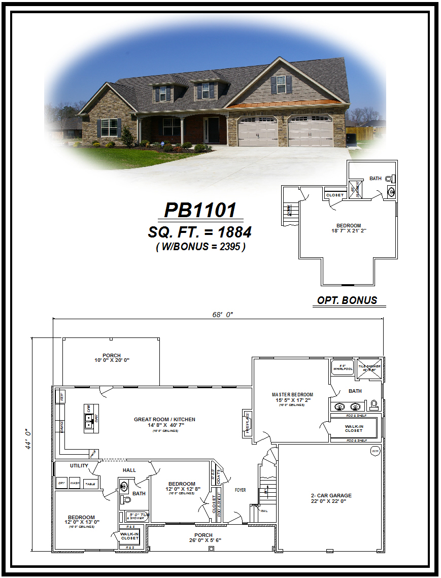 picture of house plan #PB1101