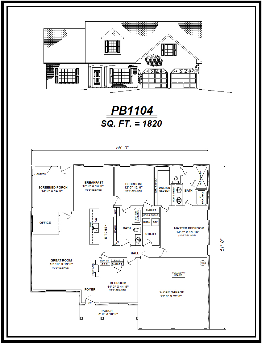 picture of house plan #PB1104