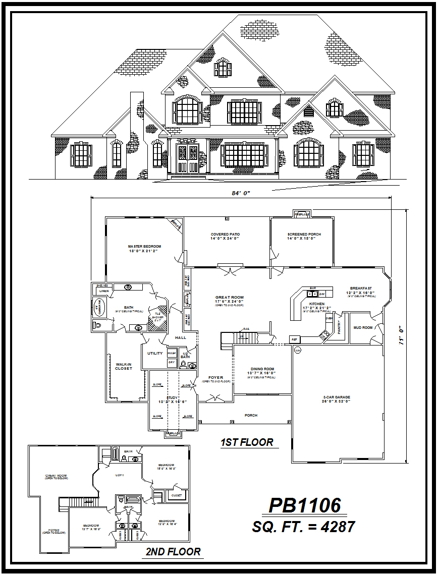 picture of house plan #PB1106