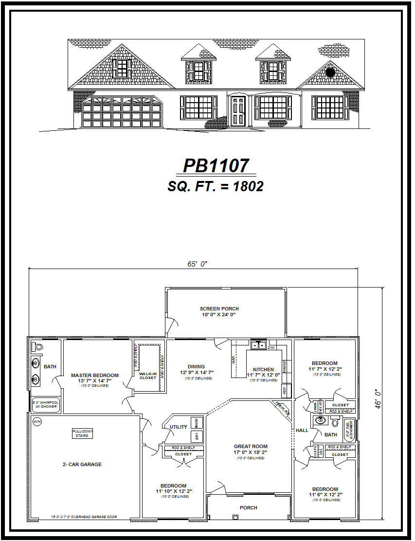 picture of house plan #PB1107