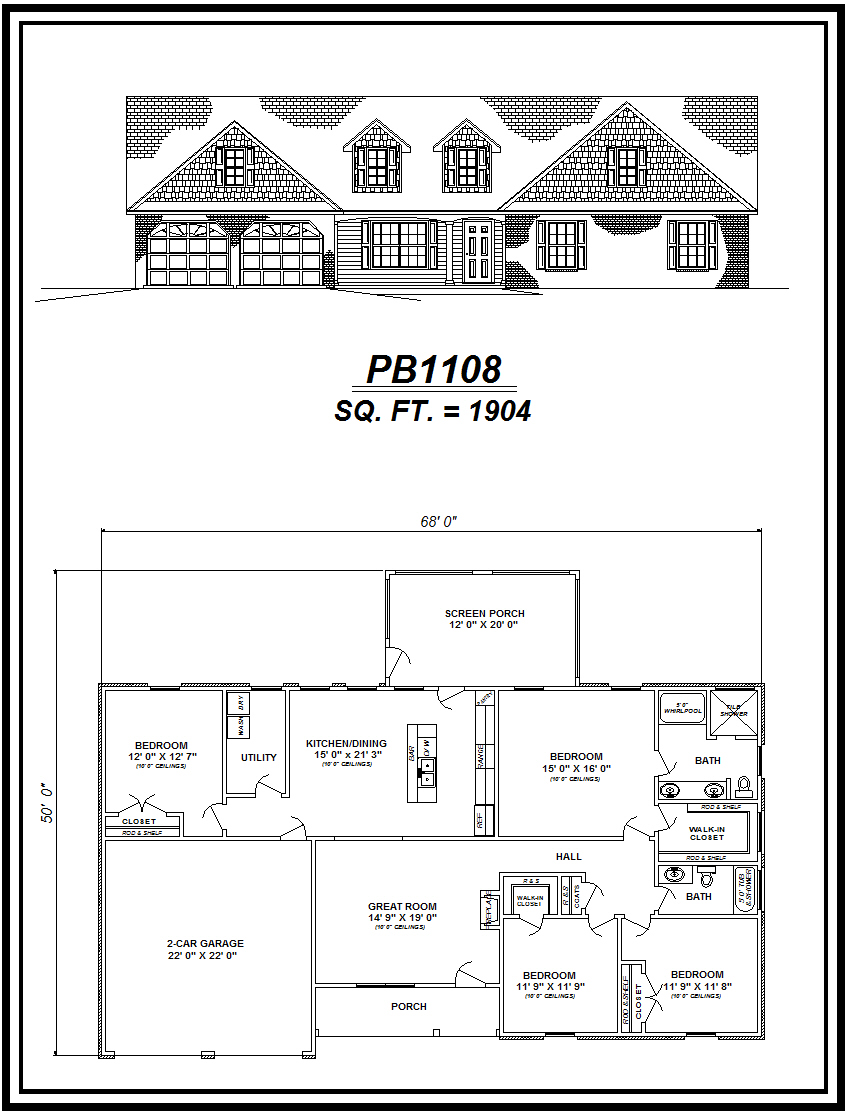 picture of house plan #PB1108