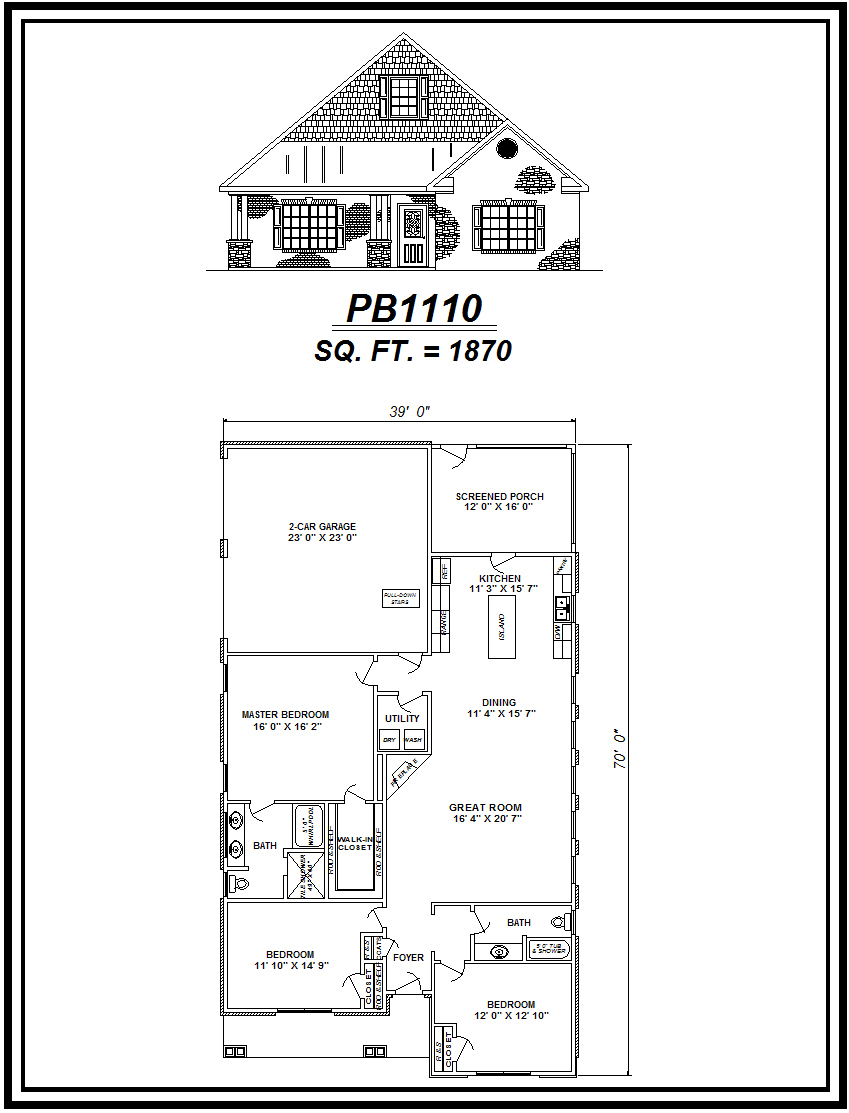 picture of house plan #PB1110