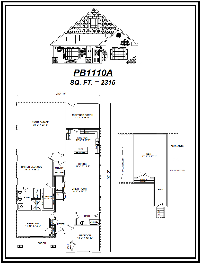 picture of house plan #PB1110A