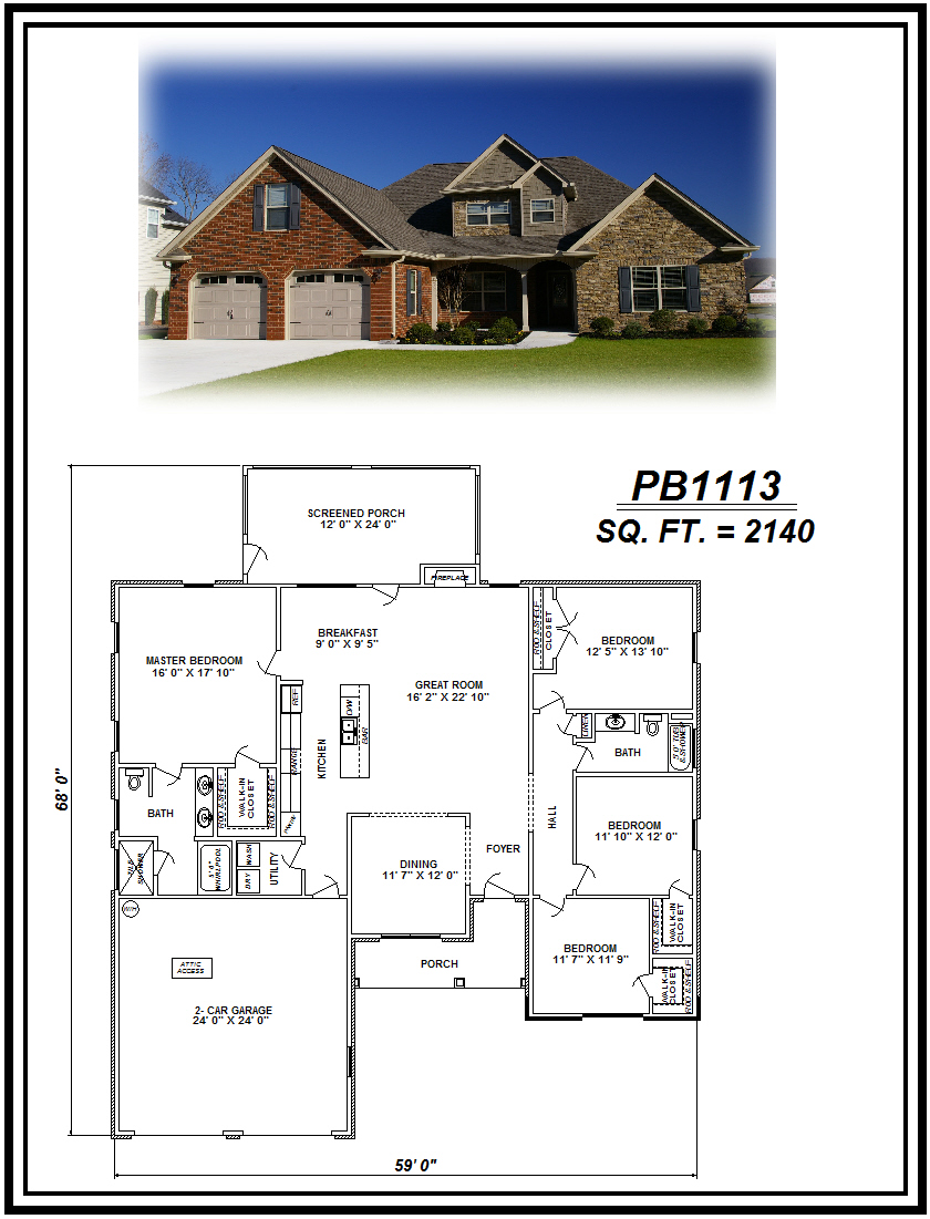 picture of house plan #PB1113