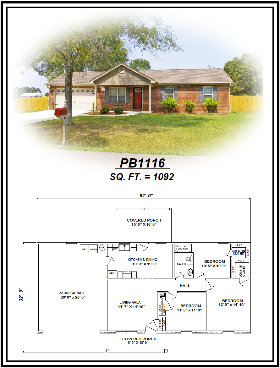picture of house plan #PB1116