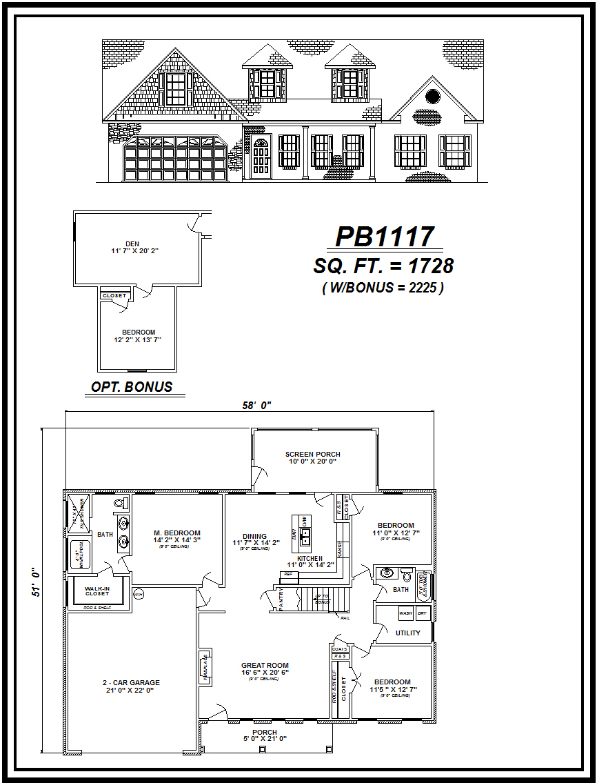 picture of house plan #PB1117