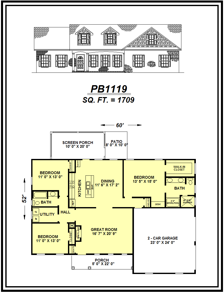 picture of house plan #PB1119