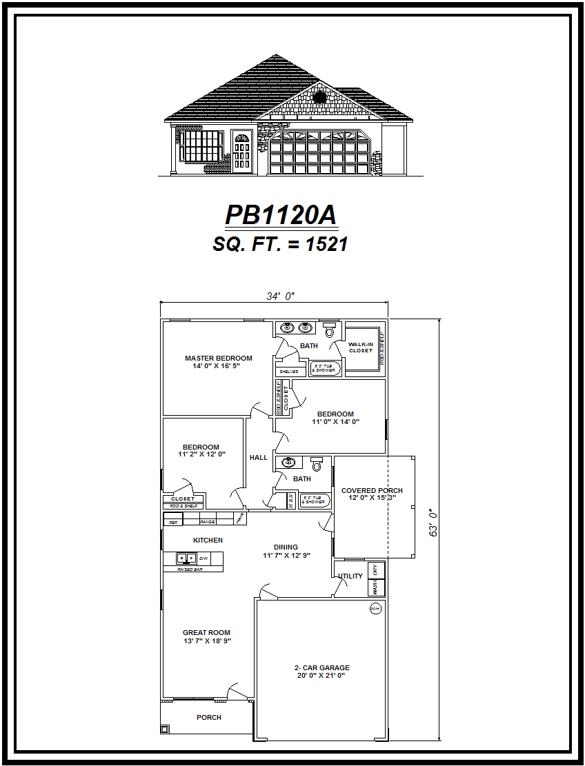 picture of house plan #PB1120A