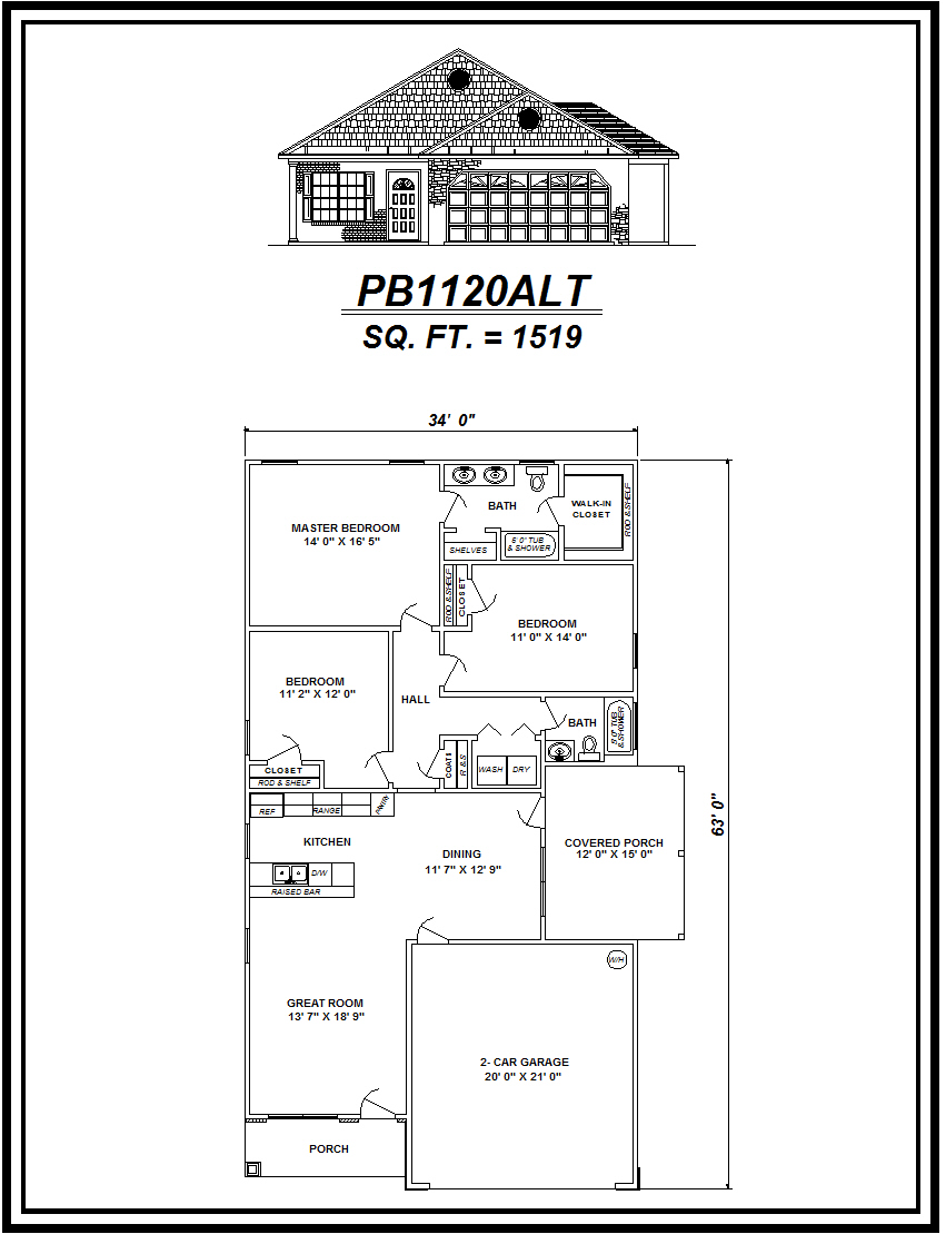 picture of house plan #PB1120ALT