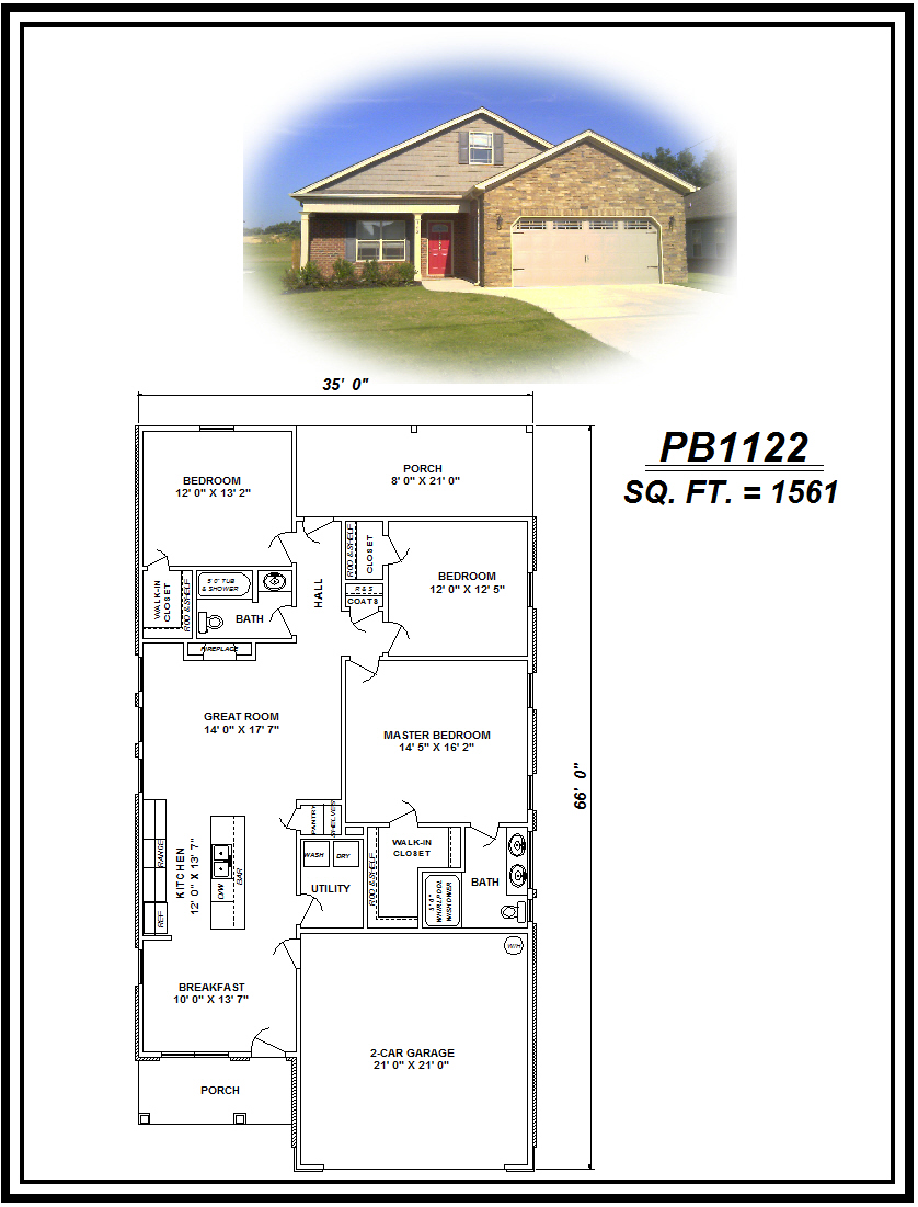 picture of house plan #PB1122