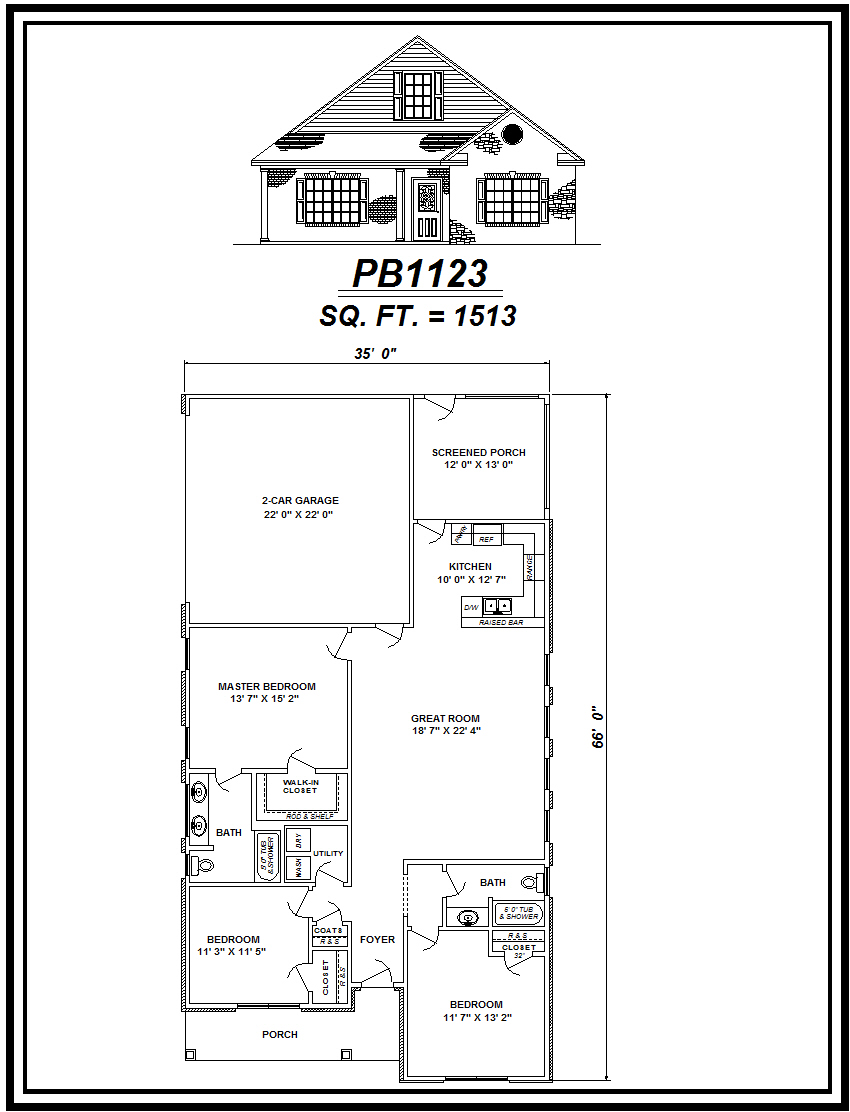picture of house plan #PB1123